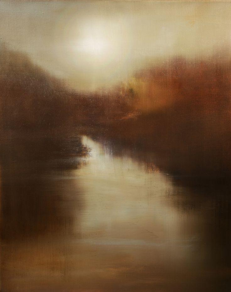 "Maurice Sapiro - ""Moon River"" oil on linen  30""x24"" - I love those perpendicular strokes!"