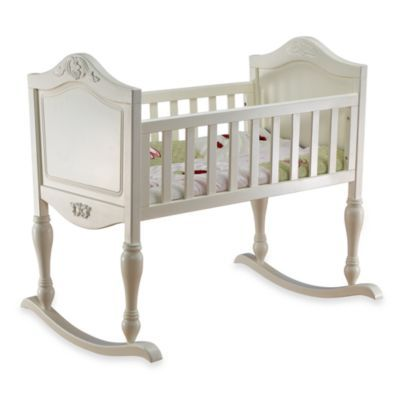 Lisa French White Cradle with Mattress by Sorelle - buybuyBaby.com