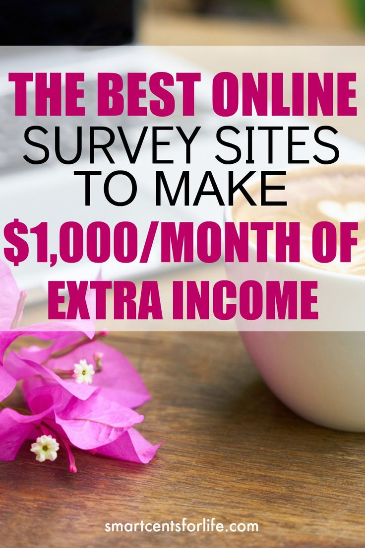 How To Make $1000 A Month Working From Home Online Survey Sitesmoney