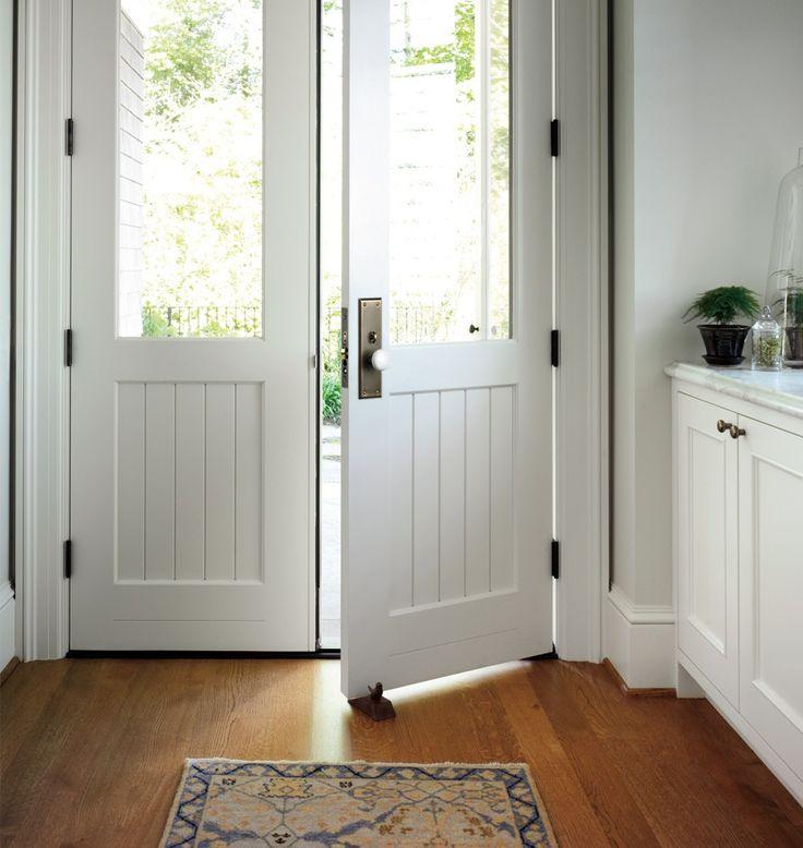 Putman White Porcelain Knob Exterior Door Set Door Sets