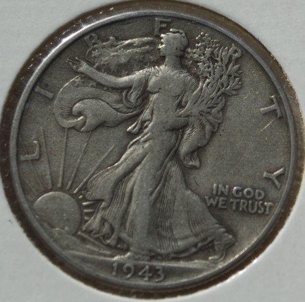 1943 WALKING LIBERTY HALF SILVER