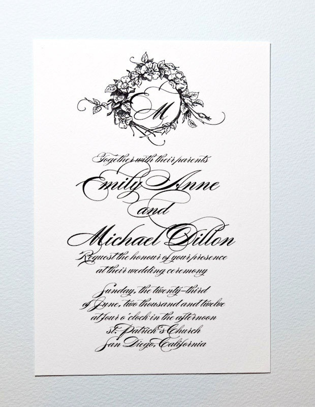 131 best Wedding Invites S the Ds etc images – Wedding Invitation Monograms