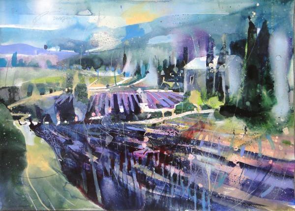 Artist Bernhard Vogel Watercolor Provence Watercolor Landscape