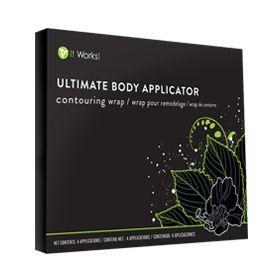 Ultimate Body Applicator, enveloppe de tissu imbibé de puissants principes actifs végétaux pour un effet tenseur, tonifiant et raffermissant en 45 minutes, l'allié minceur par excellence avec des résultats visibles