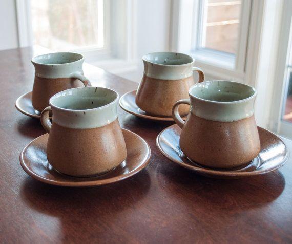 4 tasses et soucoupes àa café vintage SIAL/Cerval par 3rvintages