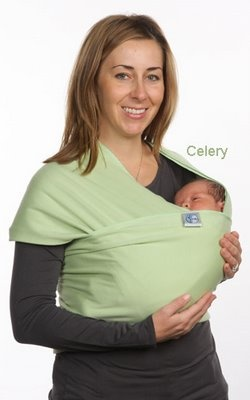 Baby Carrier. Celery Organic Baby Wrap. Moby Wrap uses your entire back,
