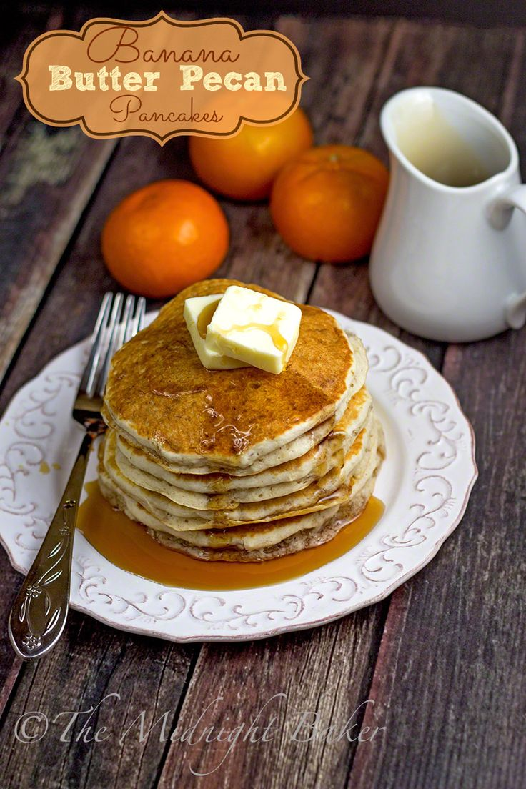 Set a stack of these Banana Butter Pecan Pancakes in front of your family and watch the smiles spread!