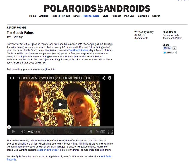 Polaroid Of Androids review WGB