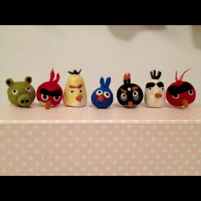 Needle felted Angry Birds !
