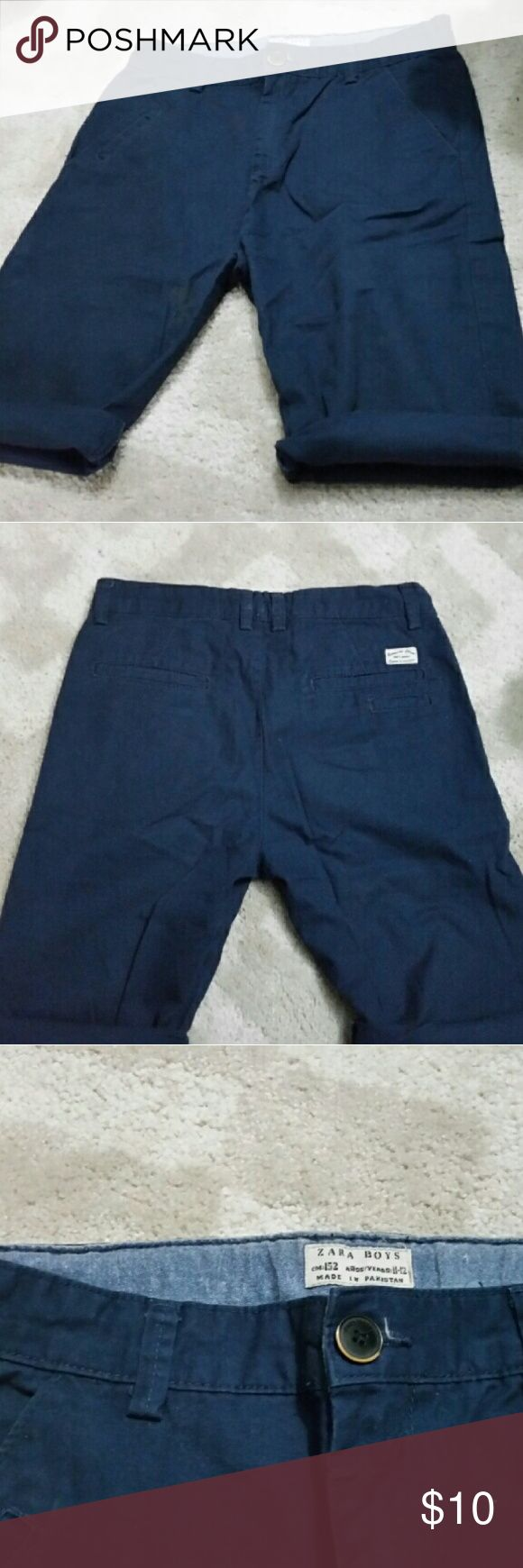 Zara boys knee length shorts.. Zara boys Bermuda knee length shorts...enjoy these pants on a cool or hot summer day! Size 11-12 kidos cm:152 Perfect for vacation!?? Zara Bottoms Shorts