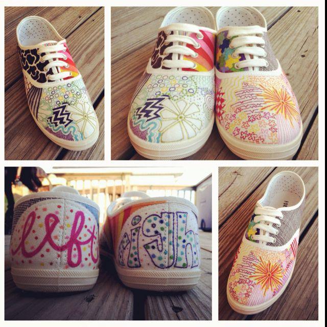 DIY sharpie shoes
