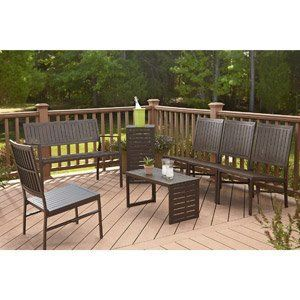 PATIO FURNITURE INDOOR/OUTDOOR LAWN & GARDEN COSCO 7 PC FOLDING SET by PATIO FURNITURE At The Neighborhood Corner Store. $928.83. an upscale appearance. flat fold for easy storage. Bench:      Stylish, lightweight design     For outdoor/indoor use. C-Table/Bench:      Stylish, lightweight design     For outdoor/indoor use. Lounge Chair:      Stylish, lightweight design     For outdoor/indoor use. The Cosco 7-Piece Outdoor Folding Conversation Set has an upscale appearance that i...