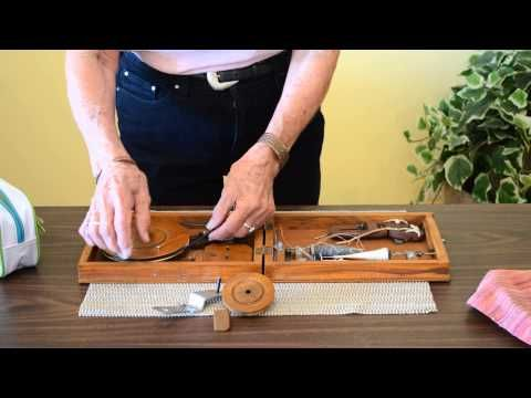 Step 1 How To Set Up Your Indian Book Charkha by Joan Ruane - YouTube
