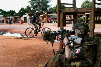 Un soldado francés en Bangui.- REUTERS