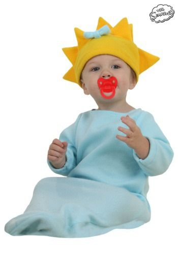 Dress your little one as the lovable infant from the Simpsons in this officially licensed Maggie Simpson costume.