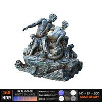 satyr statue 3d obj