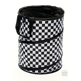"""Checkered Flag Collapsible Container. Myriad of uses... could hold favors, could be used as a """"chip in"""" game. #golftournament"""