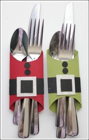 cute idea for the festive dinner table : Christmas Craft Ideas - Babybites.co.nz: