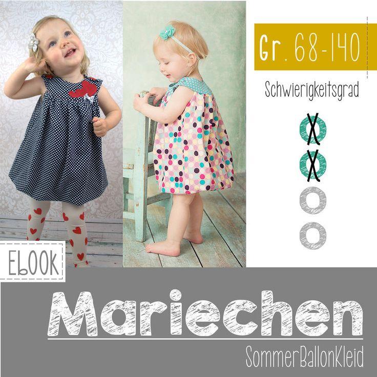 Nähanleitung und Schnittmuster Ballonkleid Mariechen - Schnittmuster & Nähanleitungen bei Makerist