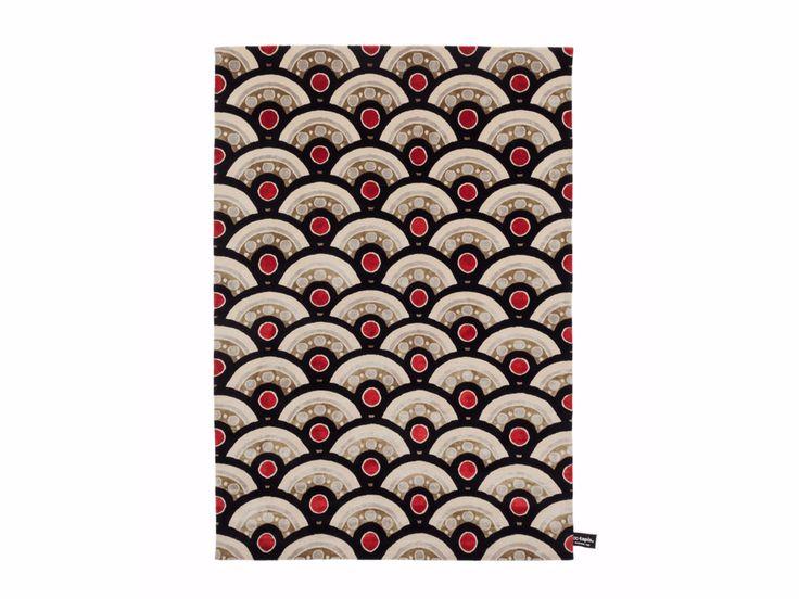 Tappeto rettangolare in lana a motivi geometrici PILGRIMAGE IN TOKIO Collezione Signature by cc-tapis ® design Federico Pepe