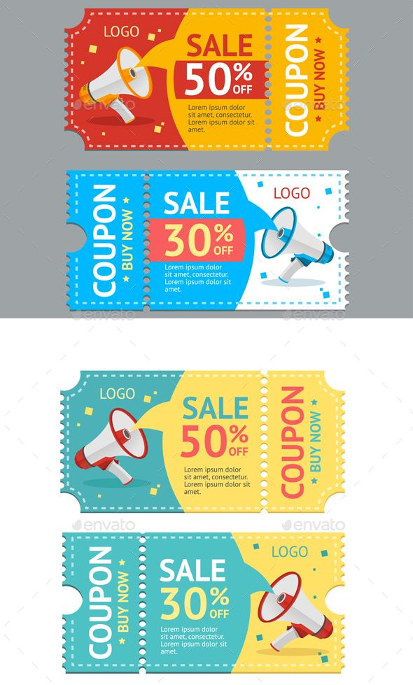 Coupon Sale Design Vector - Business Conceptual Vector EPS. Download here: http://graphicriver.net/item/coupon-sale-vector/16746461?ref=yinkira