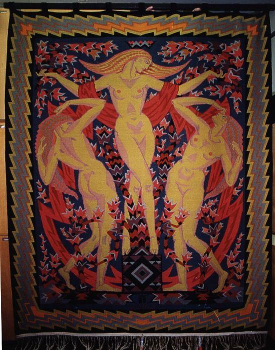 Wanda Bibrowicz - Imperatorowa 'Trzy Gracje', 1925, gobelin