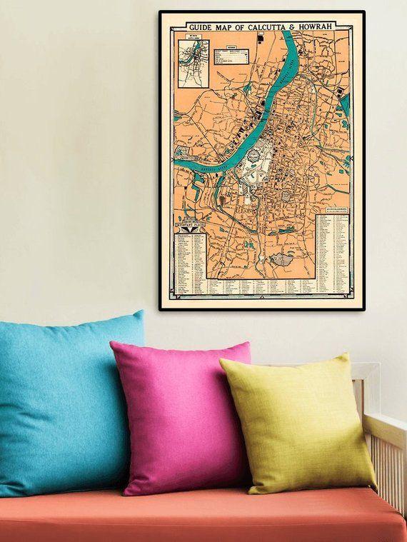 Kolkata map print, 1950.Art Deco-style map of Kolkata. INDIA: Guide on new town kolkata map, bombay calcutta on a map, bengali calcutta map, kolkata west bengal on a map, asia calcutta map, kolkata calcutta diagram, india calcutta map,