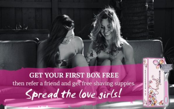 Try Angel Shave Club for FREE, tell your best friends, and keep scoring more shaving supplies! Sign up on our website.