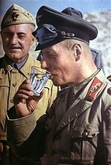 Rommel, Erwin 1891-1944.Officer (general field marshall), Germany Commander of the german Afrika - Korps together with italian general Scotti at El Alamein,July/August 1942 - pin by Paolo Marzioli