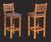 Bar Chair Upholstered Seat and Back