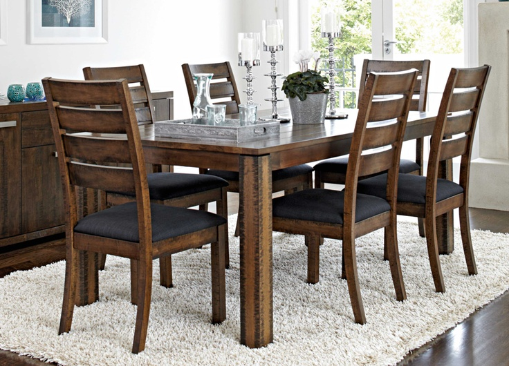Penleigh 7 piece rectangular dining suite by john young for Dining room tables harvey norman