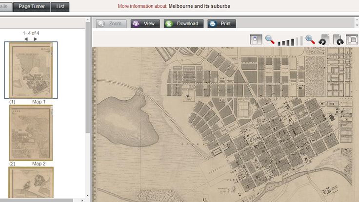 Historic Maps of Melbourne and Suburbs - online - free to view, print, download from State Library of Victoria