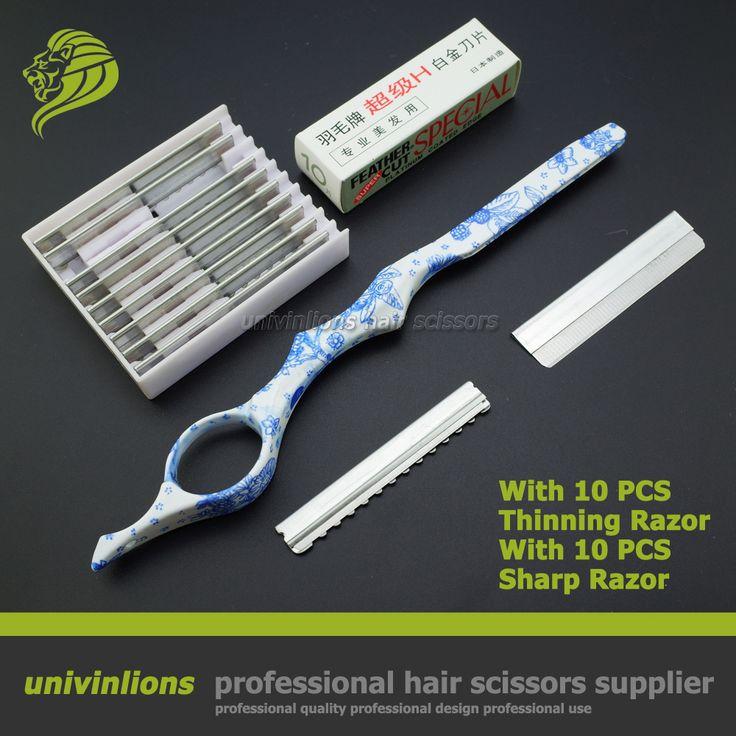 """7 """"dengan tajam/tipis pisau tukang cukur silet cukur pisau cukur rambut cutting gunting penipisan rambut penata rambut potongan rambut toko tukang cukur"""