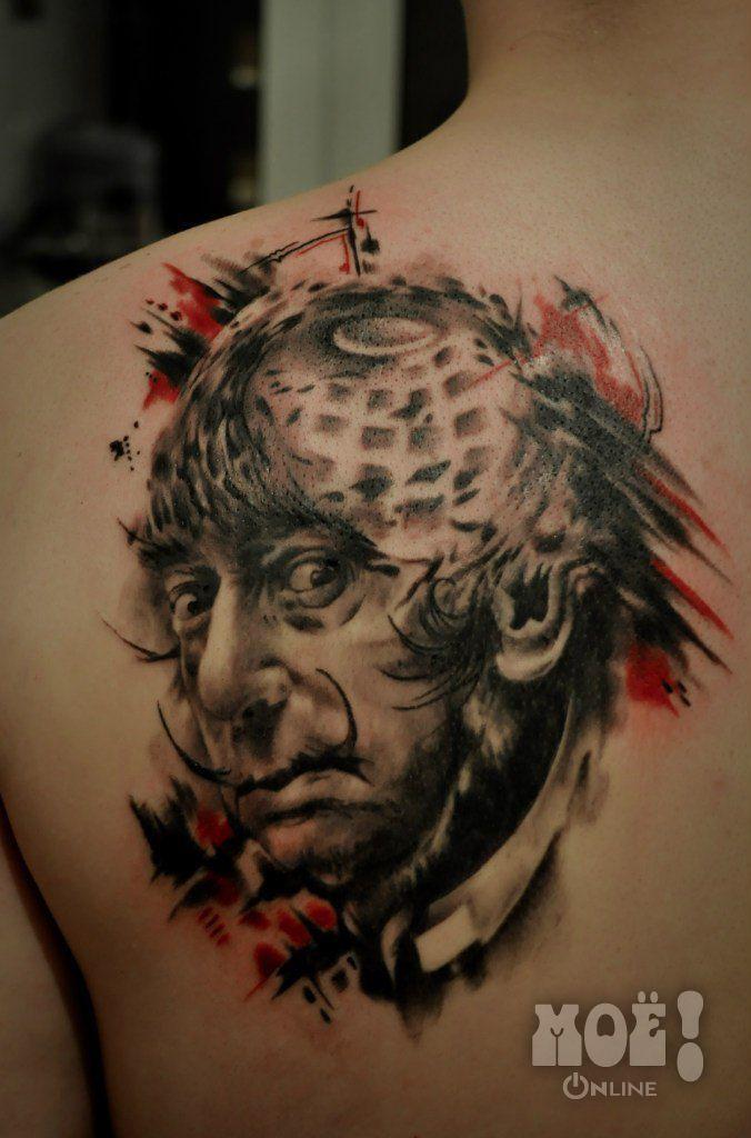 """Сальвадор Дали. Работы воронежских тату-мастеров в жанре """"портрет"""" / Works of Voronezh tattoo artists in the portrait genre"""