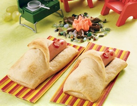 Franks in Blankets - Cute! Might even be fun for slumber parties :)