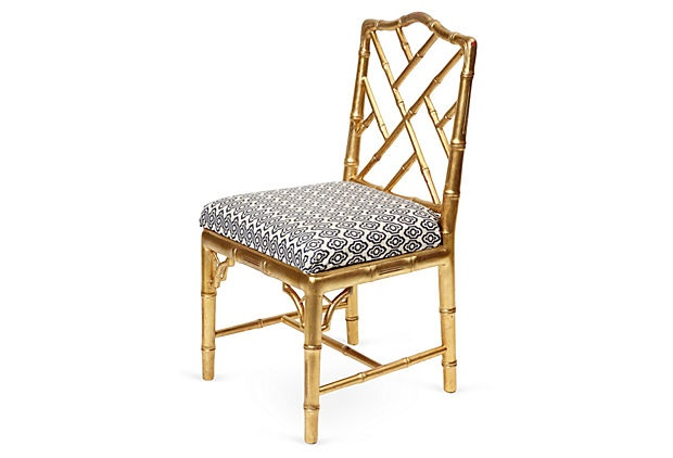One Kings Lane - Allison Hennessy - Gilt Bamboo Chippendale Chair: Pieces, Chippendale Chairs, Ath Interiors, Gilt Bamboo, Chippend Chairs, One King Lane, Interiors Design, Products, Bamboo Chippendale