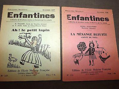 Enfantines decembre 1946 et 1947 Ecole jules ferry , mayenne