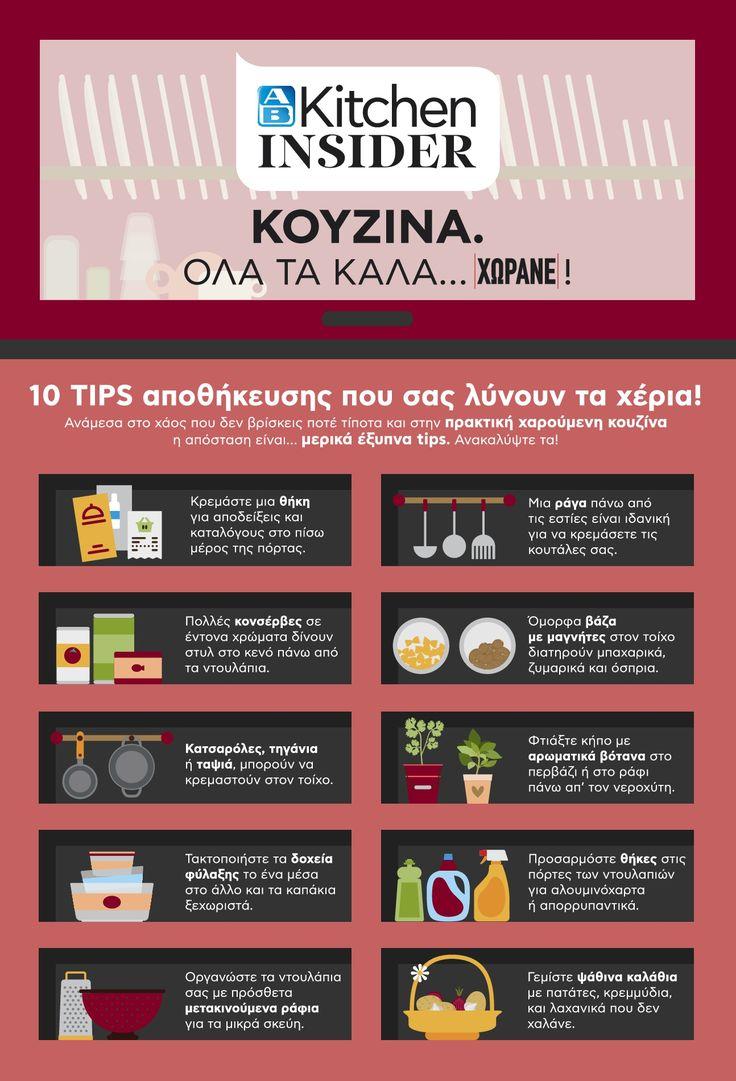 Το ΑΒ Kitchen Insider σου προτείνει έξυπνα tipsπου θα μετατρέψουν την κουζίνα σου σε έναν χαρούμενο και πρακτικό χώρο. Ανακάλυψέ τα εδώ: http://www.ab.gr/proposes/ab-kitchen-insider