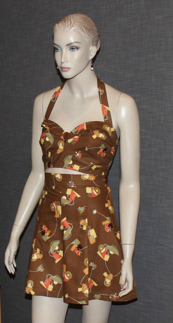 1940's Reproduction Pleated Shorts and Halter by jacksdaughter