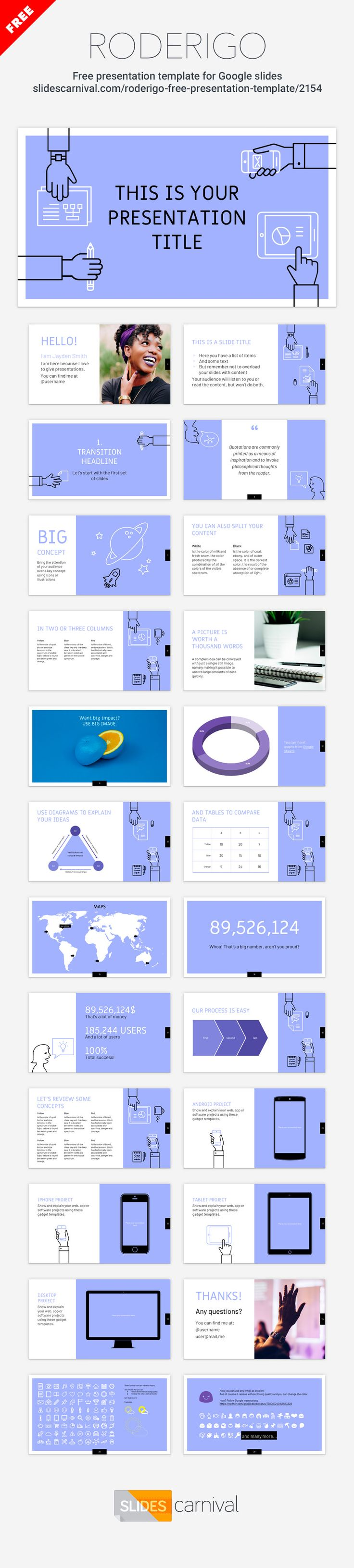 Design a presentation that will meet the latest design trends with this multipurpose free template. With illustrations that represent teamwork this theme will fit a keynote on business planning, your next marketing strategy or a new project proposal.