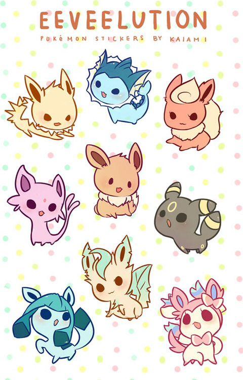 All eevee evolutions :)