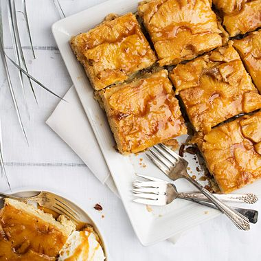 """Puerto Rican Pineapple Rum Cake- This particular rum cake was often served by one of Wessel's aunts. """"I think all the Irish side of our family loved it because it was loaded with rum,"""" he says, joking that they'd often add more to the glaze than the recipe called for. The alcohol will burn off, but you can also omit the rum glaze and just serve with ice cream."""