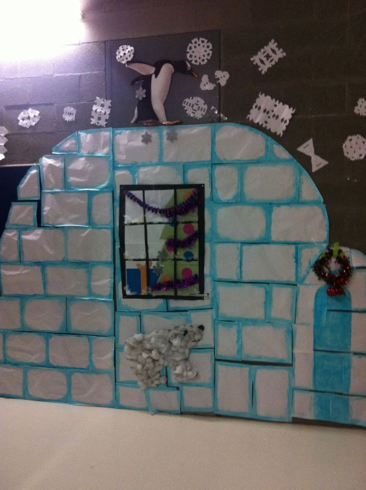 Cute Classroom Decoration ~ Igloo so not english christmas but cute anyway