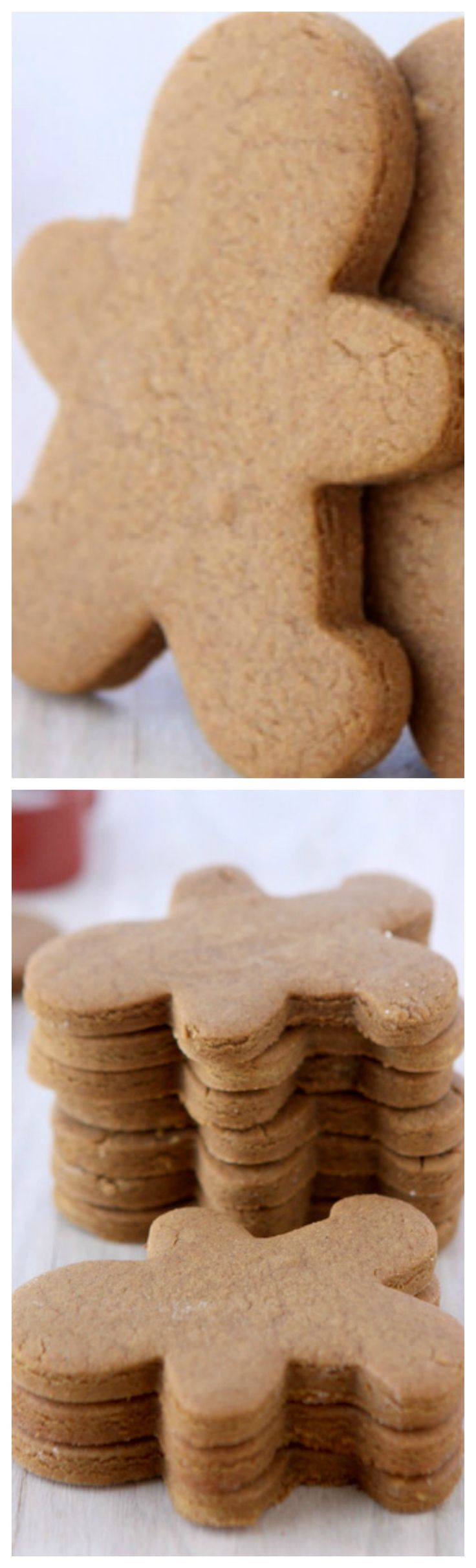 Gingerbread Cookies That Won\'t Spread ~ Looking for the perfect gingerbread cookie recipe? Here you go! These cookies keep their shape, and won't spread during baking!