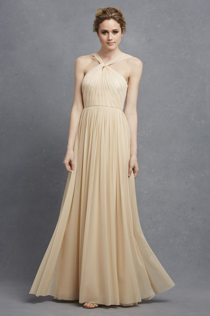 81 best bridesmaid dresses images on pinterest wedding donna morgan ava dress in almond long chiffon bridesmaid dress neutral bridesmaid look donna morgan serenity collection ombrellifo Image collections