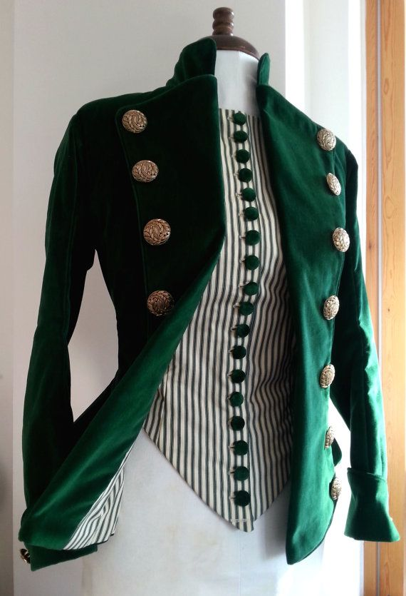 Victoriana o eduardiana chaqueta de las señoras, hábito del montar a caballo o Steampunk traje