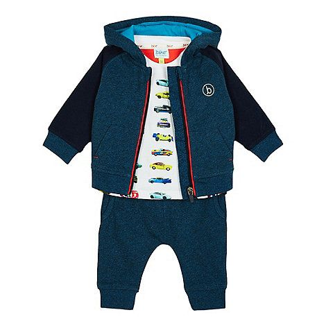 Baker by Ted Baker Baby boys' turquoise logo print sweater and jogging bottoms set | Debenhams £32