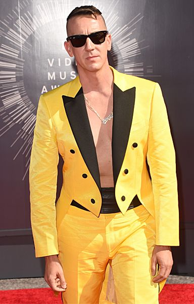 Jeremy Scott photographed on the red carpet at the 2014 MTV Video Music Awards in Inglewood, California. | MTV Photo Gallery