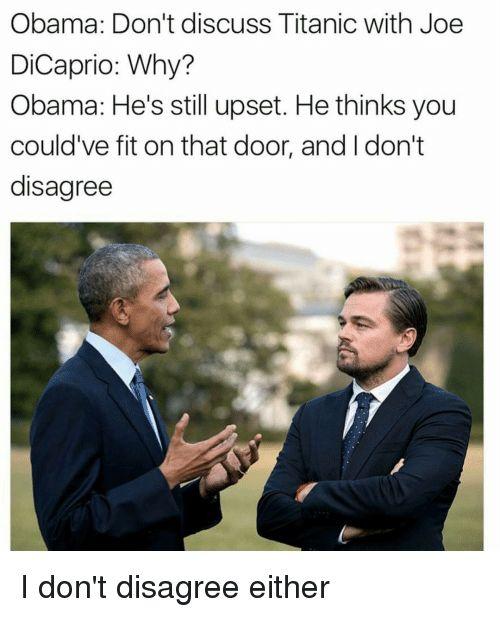 Image result for leo obama meme titanic joe