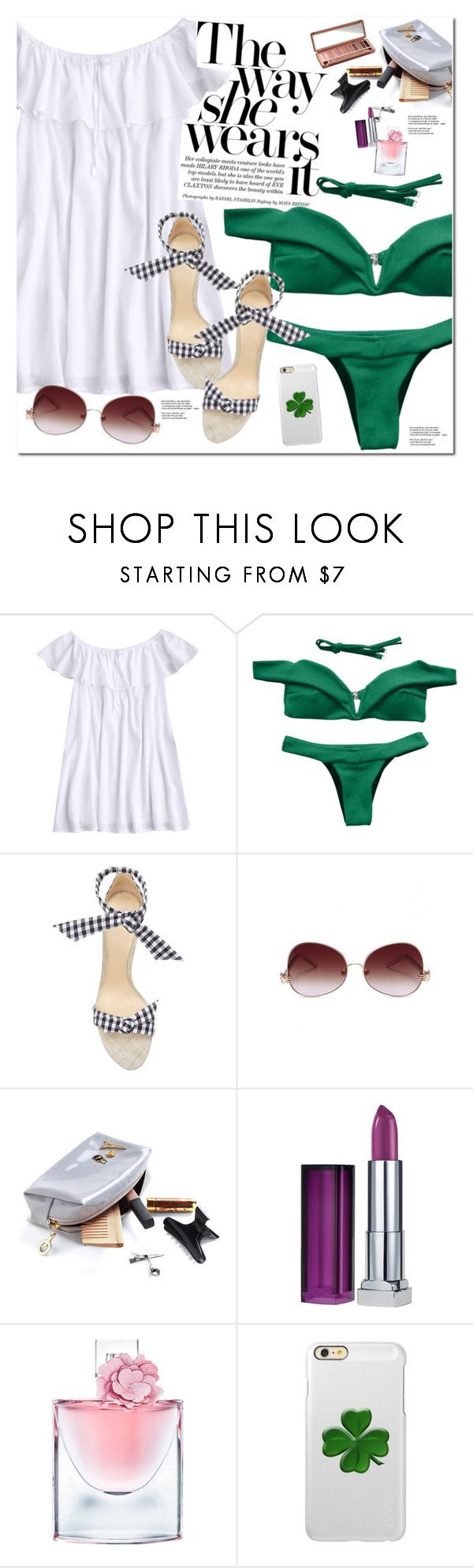 """The Way She Wears It"" by oshint ❤ liked on Polyvore featuring Alexandre Birman, Maybelline, Lancôme, Incipio and Urban Decay"